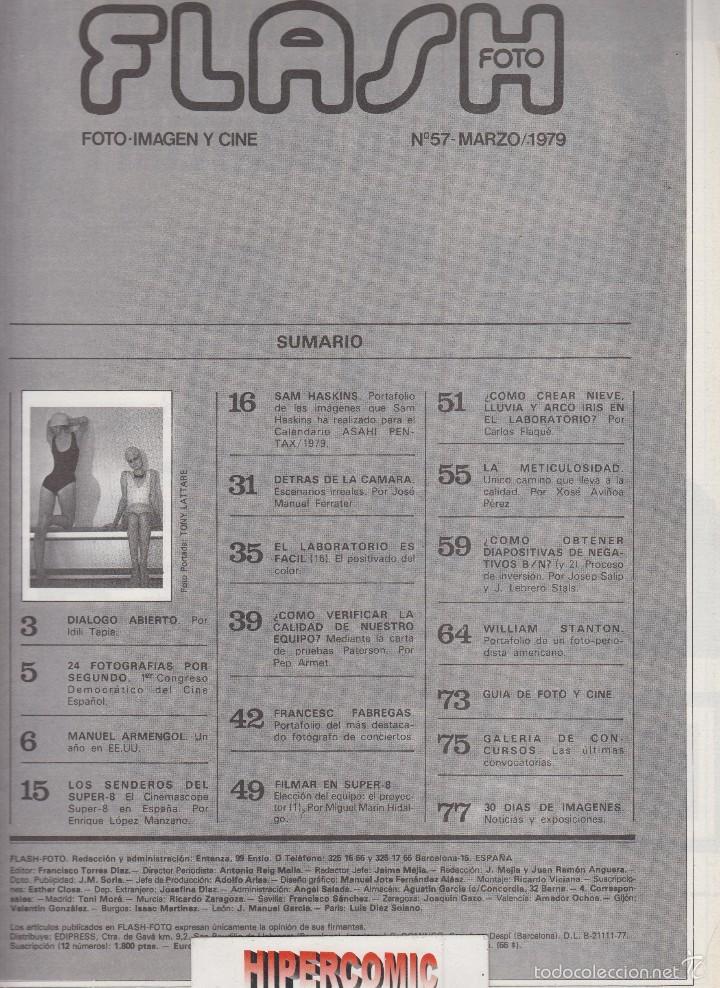 Cámara de fotos: FLASH FOTO nº 57 - Foto - Imagen y Cine AÑOS 70 - : VER INDICE - PORTAFOLIO SAM HASKINS - Foto 2 - 60068155