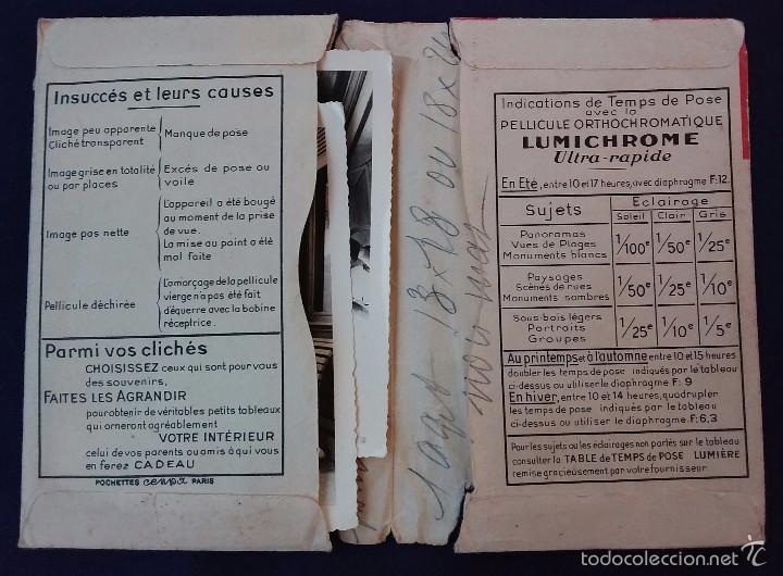 Cámara de fotos: Antiguo porta negativos Lumiere con fotos. Años 50. 16x11cm. Fotografia- Camara fotografica. - Foto 2 - 60180599