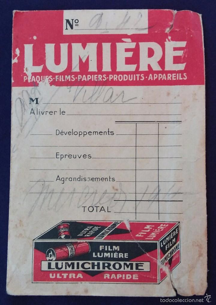 Cámara de fotos: Antiguo porta negativos Lumiere con fotos. Años 50. 16x11cm. Fotografia- Camara fotografica. - Foto 3 - 60180599