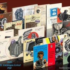 Cámara de fotos: DVD 20 CATÁLOGOS LINHOF. Lote 60537263