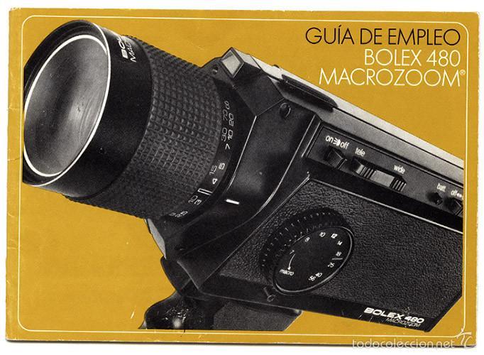 BOLEX 480 MACROZOOM – MANUAL DE INSTRUCCIONES (Cámaras Fotográficas - Catálogos, Manuales y Publicidad)