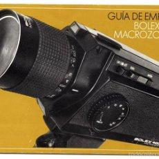 Cámara de fotos: BOLEX 480 MACROZOOM – MANUAL DE INSTRUCCIONES. Lote 61255675