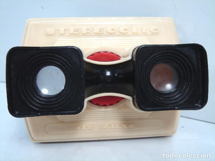 Cámara de fotos: RARO VISOR ESTEREOSCOPICO 3D - STEREOCLIC DE LUXE BRUGUIERE + LAMINA VISTAS LOURDES - STEREOCARTE - Foto 2 - 62055772