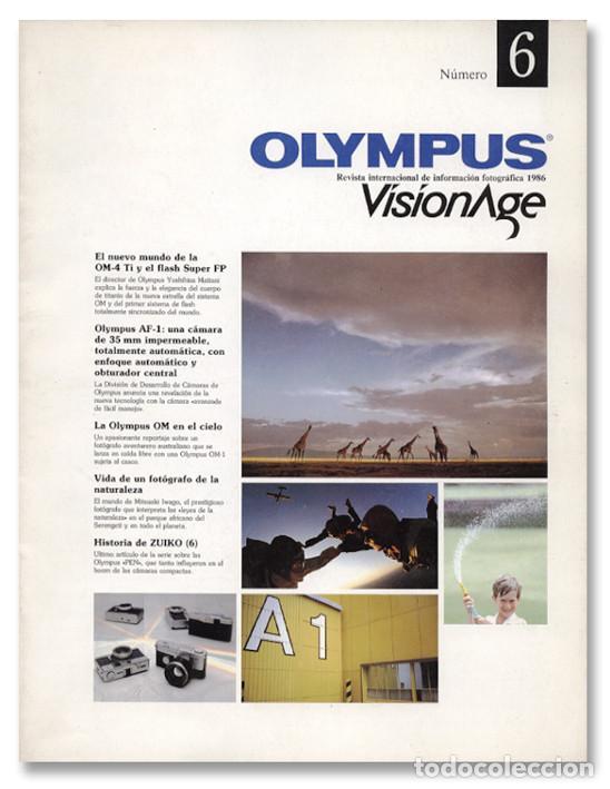 OLYMPUS VISIONAGE Nº 6 (1986) (Cámaras Fotográficas - Catálogos, Manuales y Publicidad)