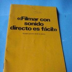 Cámara de fotos: CATALOGO FOLLETO DE BOLEX. FILMAR CON SONIDO DIRECTO ES FÁCIL. 1977. CAMARA. 23 PÁGINAS. Lote 63363028