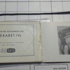Cámara de fotos: GUIA DE INSTRUCCIONES DE FLEXARET IV AÑOS 40. Lote 63491351