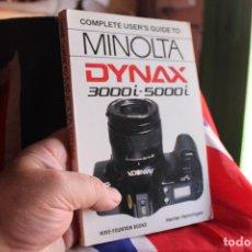 Cámara de fotos: LIBRO SOBRE LAS MINOLTA DYNAX 3000I Y 5000I. Lote 64021131