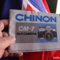Cámara de fotos: FOLLETO CHINON CM-7. Lote 64021619