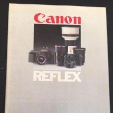Cámara de fotos: CATALOGO DE CAMARAS FOTOGRAFICAS CANON REFLEX EDICION ESPAÑOLA DE 1985. Lote 64824371