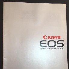 Cámara de fotos: CATALOGO DE CAMARAS FOTOGRAFICAS CANON EOS EDICION ESPAÑOLA DE 1987. Lote 64824763