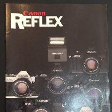 Cámara de fotos: CATALOGO DE CAMARAS FOTOGRAFICAS CANON REFLEX EDICION ESPAÑOLA DE 1982 1983. Lote 64825075