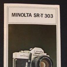 Cámara de fotos: CATALOGO DE LA MAQUINA DE FOTOS MINOLTA SR-T 303 EDICION ESPAÑOLA SRT DE 1974. Lote 64878139
