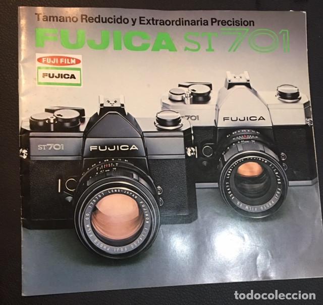 CATALOGO DE LA MAQUINA DE FOTOS FUJICA ST701 ST 701 EDICION ESPAÑOLA DE 1973 (Cámaras Fotográficas - Catálogos, Manuales y Publicidad)