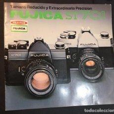 Cámara de fotos: CATALOGO DE LA MAQUINA DE FOTOS FUJICA ST701 ST 701 EDICION ESPAÑOLA DE 1973. Lote 64901911