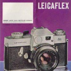 Fotocamere: CATALOGO CAMARA FOTOGRAFICA LEICAFLEX. AÑO 1958. Lote 65252903