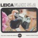 Cámara de fotos: CATALOGO CAMARA FOTOGRAFICA LEICAFLEX SL2. AÑO 1975. EN INGLES. Lote 65265715