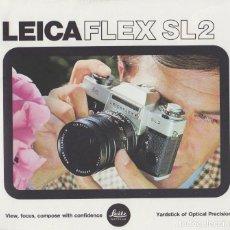 Fotocamere: CATALOGO CAMARA FOTOGRAFICA LEICAFLEX SL2. AÑO 1975. EN INGLES. Lote 65265715