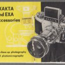 Cámara de fotos: CATALOGO ACCESORIOS CAMARAS FOTOGRAFICAS EXAKTA Y EXA. . Lote 65326779