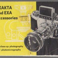 Appareil photos: CATALOGO ACCESORIOS CAMARAS FOTOGRAFICAS EXAKTA Y EXA. . Lote 65326779
