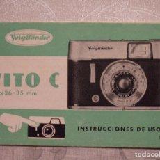 Cámara de fotos: MANUAL INSTRUCCIONES CAMARA FOTOGRAFICA - VITO C. Lote 65327947