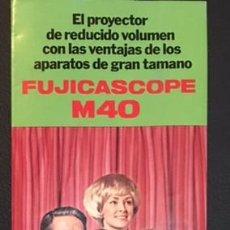 Cámara de fotos: CATALOGO PUBLICIDAD ORIGINAL DEL PROYECTOR FUJICASCOPE FUJICA FUJI FILM M40. Lote 65660914