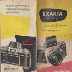 Appareil photos: CATALOGO CAMARA FOTOGRAFICA EXAKTA VAREX. . Lote 65874202