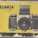 Cámara de fotos: CATALOGO CAMARA FOTOGRAFICA EXAKTA VAREX II B. AÑO 1939. Lote 66243350