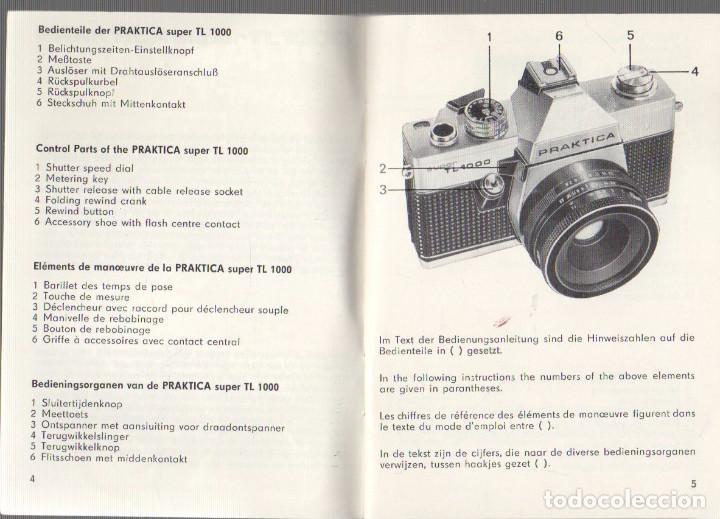 manual instrucciones camara fotografica praktic