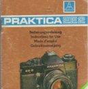 Cámara de fotos: MANUAL DE INSTRUCCIONES CAMARA FOTOGRAFICA PRAKTICA EE2. AÑO 1977. Lote 66248206