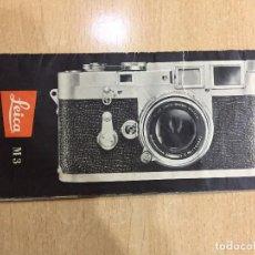 Cámara de fotos: FOLLETO DE INSTRUCCIONES LEICA M 3. Lote 69281653