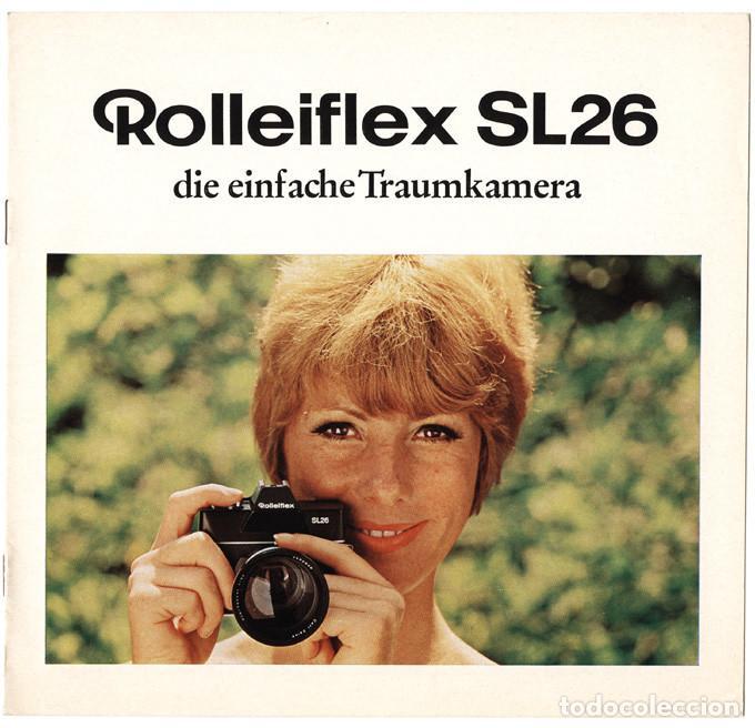 ROLLEIFLEX SL26 – RÉFLEX PARA PELÍCULA 126 (INSTAMATIC) - FOLLETO PROMOCIONAL (1970) (Cámaras Fotográficas - Catálogos, Manuales y Publicidad)