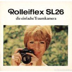 Cámara de fotos - Rolleiflex SL26 – réflex para película 126 (Instamatic) - folleto promocional (1970) - 66796218