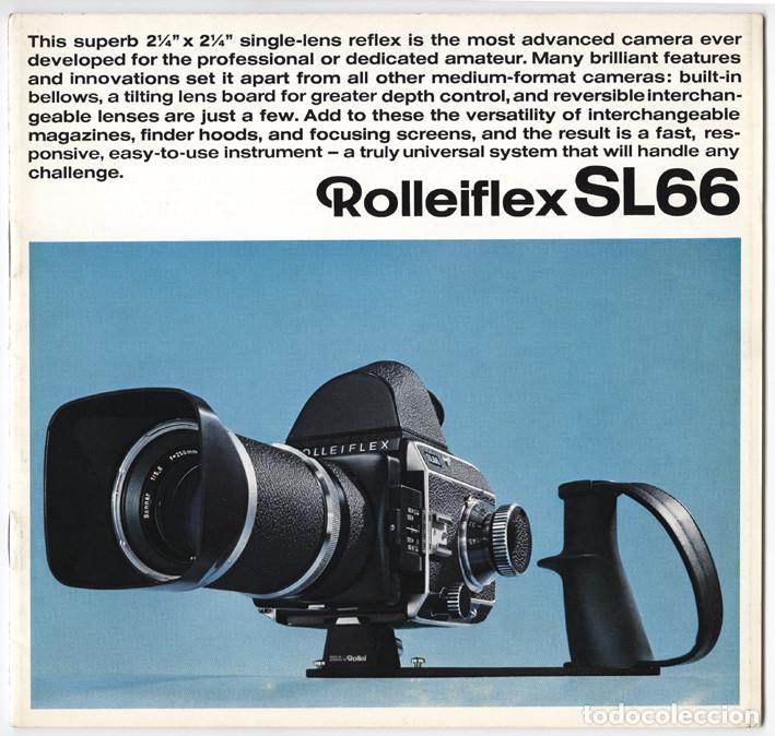 MAGNÍFICO FOLLETO DE LA CÁMARA Y EL SISTEMA ROLLEIFLEX SL66 - (1970) (Cámaras Fotográficas - Catálogos, Manuales y Publicidad)