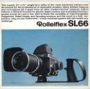 Cámara de fotos: MAGNÍFICO FOLLETO DE LA CÁMARA Y EL SISTEMA ROLLEIFLEX SL66 – LA ALTERNATIVA A HASSELBLAD (1970). Lote 66796358