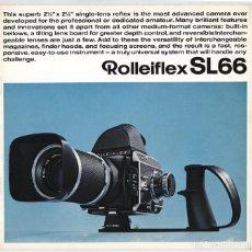 Cámara de fotos: MAGNÍFICO FOLLETO DE LA CÁMARA Y EL SISTEMA ROLLEIFLEX SL66 - (1970). Lote 66796358