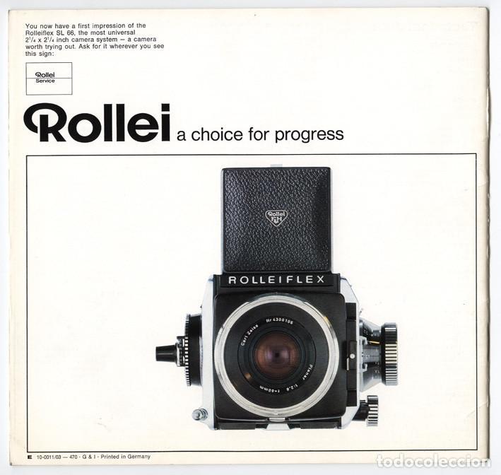 Cámara de fotos: Magnífico folleto de la cámara y el sistema Rolleiflex SL66 - (1970) - Foto 2 - 66796358