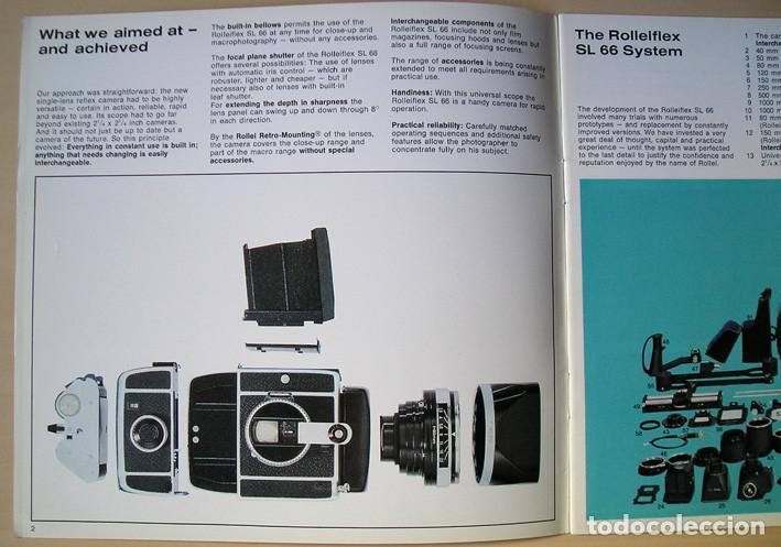 Cámara de fotos: Magnífico folleto de la cámara y el sistema Rolleiflex SL66 - (1970) - Foto 3 - 66796358