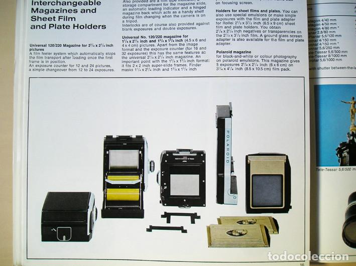 Cámara de fotos: Magnífico folleto de la cámara y el sistema Rolleiflex SL66 - (1970) - Foto 8 - 66796358