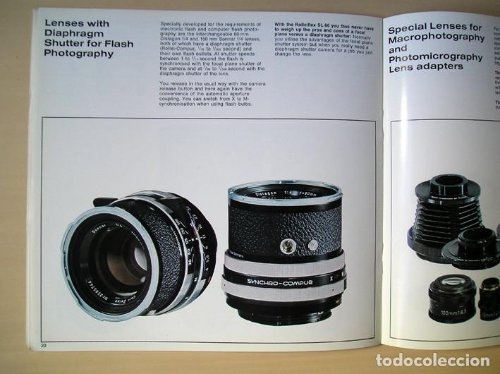 Cámara de fotos: Magnífico folleto de la cámara y el sistema Rolleiflex SL66 - (1970) - Foto 9 - 66796358