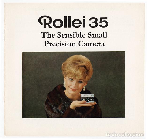 ROLLEI 35 – PRECISIÓN EN PEQUEÑO Y COMPACTO (1970) - FOLLETO PROMOCIONAL (Cámaras Fotográficas - Catálogos, Manuales y Publicidad)