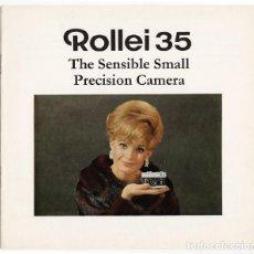 Cámara de fotos: ROLLEI 35 – PRECISIÓN EN PEQUEÑO Y COMPACTO (1970) - FOLLETO PROMOCIONAL. Lote 66796422