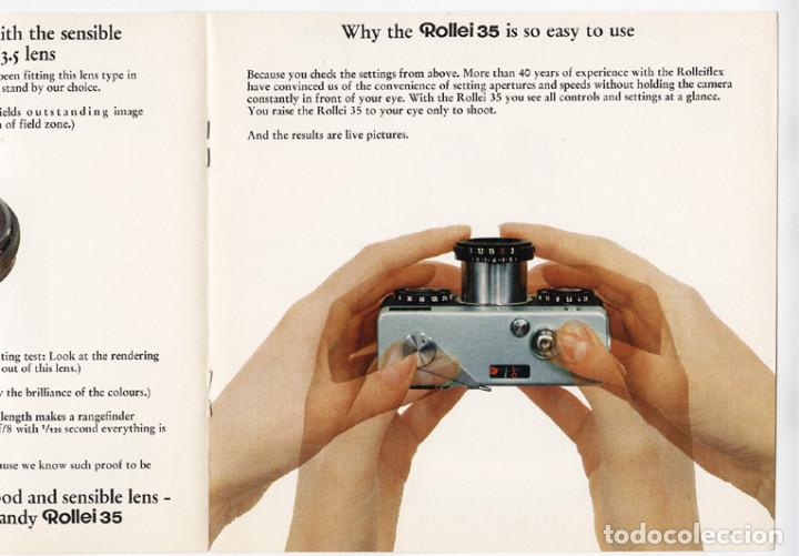 Cámara de fotos: Rollei 35 – precisión en pequeño y compacto (1970) - folleto promocional - Foto 3 - 66796422