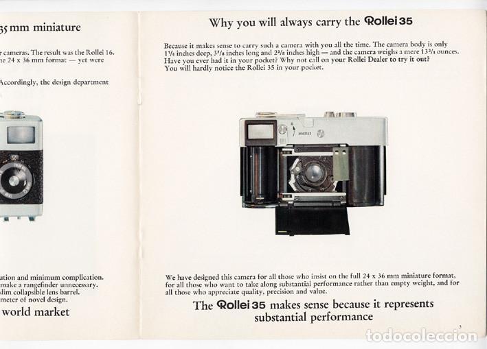 Cámara de fotos: Rollei 35 – precisión en pequeño y compacto (1970) - folleto promocional - Foto 4 - 66796422