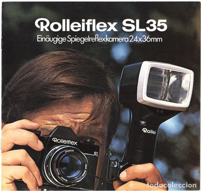 ROLLEIFLEX SL35 EINÄUGIGE SPIEGELREFLEXKAMERA 35 MM, WERBEBROSCHÜRE – FOLLETO PROMOCIONAL. 1970 (Cámaras Fotográficas - Catálogos, Manuales y Publicidad)