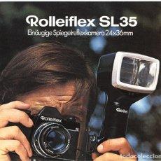 Cámara de fotos - Folleto promocional Rolleiflex SL35 – réflex 35mm monocular (1970) - 66806514