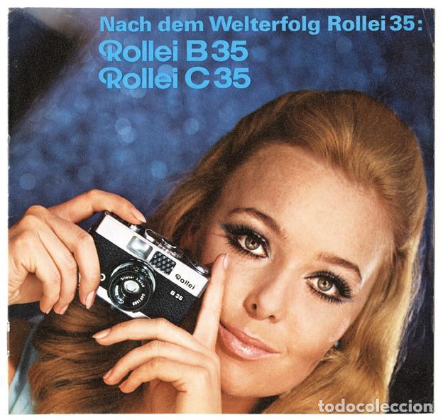 FOLLETO PROMOCIONAL ROLLEIFLEX B35 – C35, CÁMARAS COMPACTAS 35MM (1969) (Cámaras Fotográficas - Catálogos, Manuales y Publicidad)