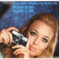 Cámara de fotos - Folleto promocional Rolleiflex B35 – C35, cámaras compactas 35mm (1969) - 66806798