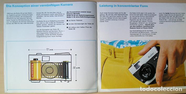 Cámara de fotos: Folleto promocional Rolleiflex B35 – C35, cámaras compactas 35mm (1969) - Foto 4 - 66806798