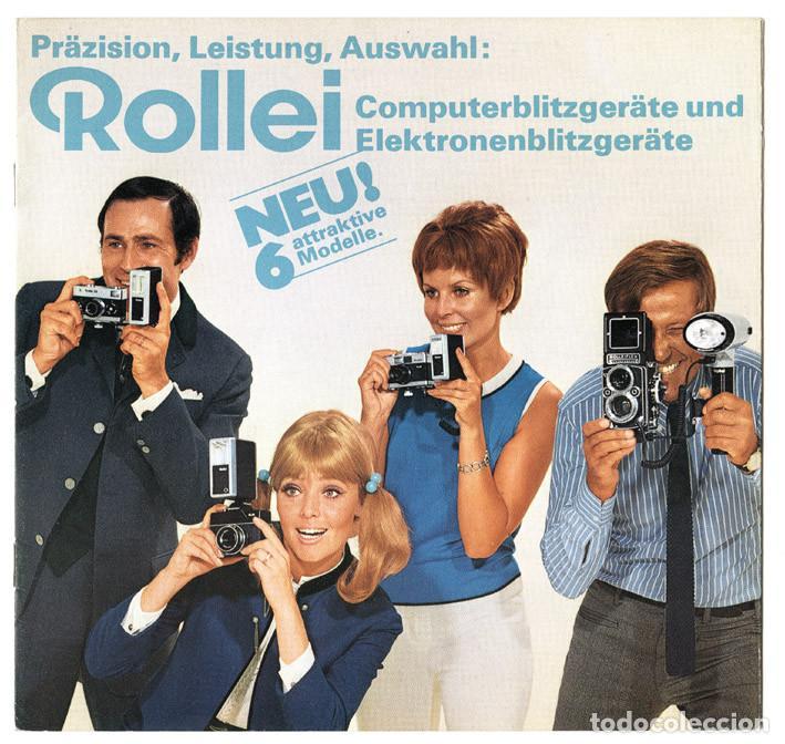 ROLLEI COMPUTERBLITZGERÄTE UND ELEKTRONENBLITZGERÄTE, WERBEBROSCHÜRE,1969 - FOLLETO EQUIPOS DE FLASH (Cámaras Fotográficas - Catálogos, Manuales y Publicidad)