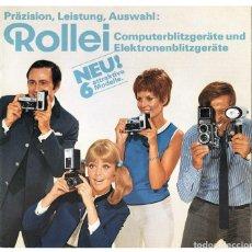 Cámara de fotos: ROLLEI COMPUTERBLITZGERÄTE UND ELEKTRONENBLITZGERÄTE, WERBEBROSCHÜRE,1969 - FOLLETO EQUIPOS DE FLASH. Lote 66807186